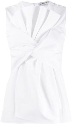 Givenchy Sleeveless Oversized Bow Top