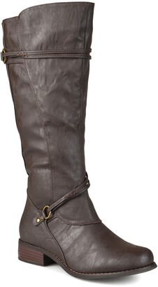 Journee Collection Harley Buckle Tall Boot - Extra Wide Calf