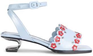 Nicole Saldana Amanda Leather Sandals