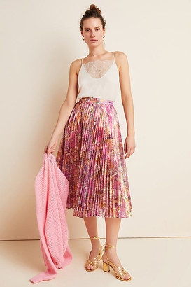 Donna Pleated Midi Skirt By Delfi in Assorted Size S