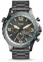 Fossil Nate Compass Chronograph Gunmetal Stainless Steel Watch