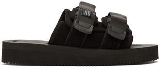 Suicoke Black Suede MOTO-VS Sandals