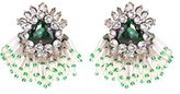 Shourouk Women's Green Stone Mint Mini Cascade Earrings