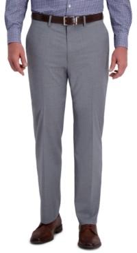 Haggar J.m. Men's Classic-Fit 4-Way Stretch Textured Plaid Performance Dress Pants