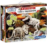 Clementoni Glow In The Dark Dig Line T-Rex And Triceratopse