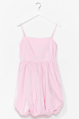 Nasty Gal Womens Taffeta Puffball Mini Dress - Hot Pink