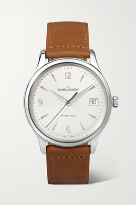 Jaeger-LeCoultre Master Control Date Automatic 40mm Stainless Steel And Leather Watch - Silver