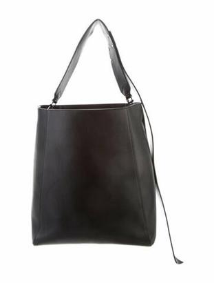 Calvin Klein Leather Large Bucket Bag Black Leather Large Bucket Bag