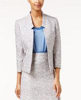 Kasper Tweed Open-Front Jacket