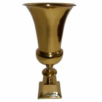 Benzara Small Gold Finish Aluminium Vase