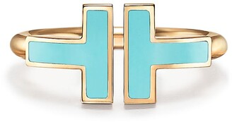 Tiffany & Co. T turquoise wire ring in 18k gold