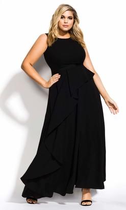 City Chic Antilla Maxi Dress in Black Size 14/X-Small
