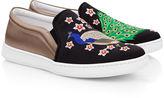Joshua Sanders Black & Taupe Peacock Slip-On Sneakers