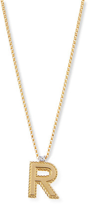 Roberto Coin Princess 18K Yellow Gold Diamond Initial Necklace, R