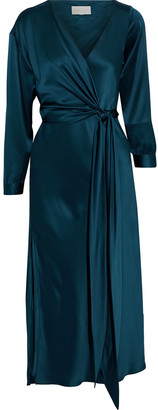 Mason by Michelle Mason Silk-charmeuse Midi Wrap Dress