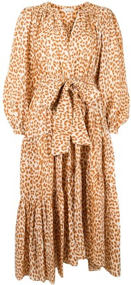 Ulla Johnson Dara leopard-print silk dress