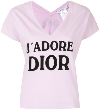 Christian Dior pre-owned J'Adore print T-shirt