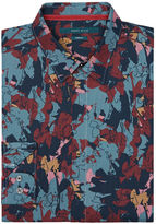 Perry Ellis Big and Tall Abstract Floral Shirt