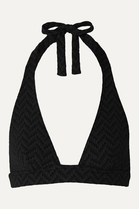 Eres Tailleur Seersucker Triangle Bikini Top - Black