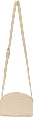 A.P.C. Beige Mini Quilted Demi-Lune Bag