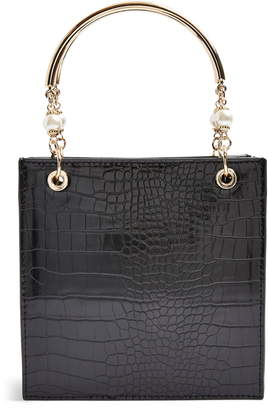 Topshop Ariel Faux Leather Tote