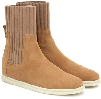 Loro Piana Cocoon suede ankle boots