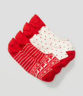 LOFT Reindeer and Dot No Show Sock Set