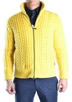 Geospirit Men's Yellow Wool Sweater.