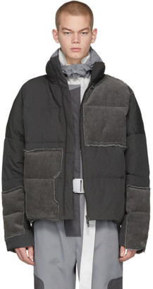 C2H4 Grey Down Corduroy Vagrant Jacket