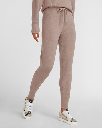 Express High Waisted Cozy Ribbed Jogger Pant