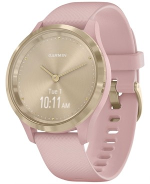 Garmin Unisex vivomove 3S Dust Rose Silicone Strap Touchscreen Hybrid Smart Watch 39mm