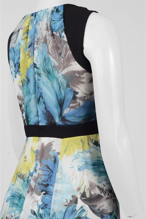 Sangria DBLP1178 Multi-Printed Jewel A-line Dress