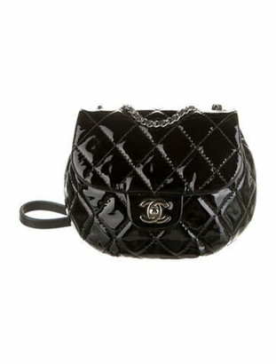 Chanel Patent Small Bubble CC Flap Bag Black