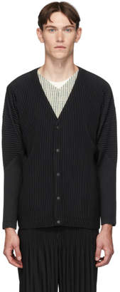 Issey Miyake Homme Plisse Black Basics Cardigan