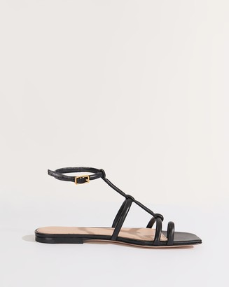 Veronica Beard Mayuri Ankle-Strap Flat Sandal