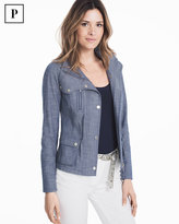 White House Black Market Petite Denim Field Jacket