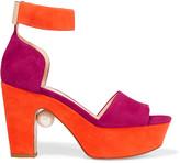 Nicholas Kirkwood Maya two-tone suede platform sandals