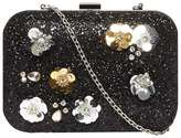 Black Flower Box Clutch