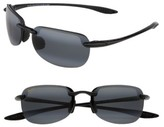 Maui Jim Women's Sandy Beach 55Mm Polarizedplus2 Semi Rimless Sunglasses - Black