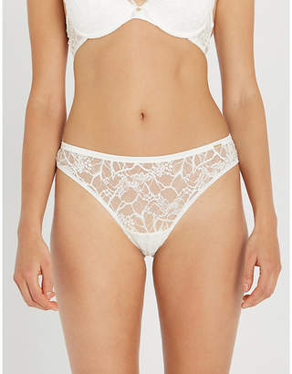 Chantelle Segur stretch-lace and satin tanga briefs