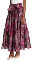 Co Floral Metallic Jacquard Maxi Skirt