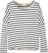 Eberjey Lounge Striped Jersey Pajama Top - Ecru