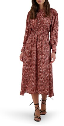 BB Dakota Wild in Style Long Sleeve Midi Dress