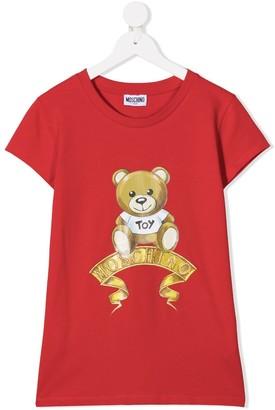 MOSCHINO BAMBINO TEEN teddy bear logo T-shirt