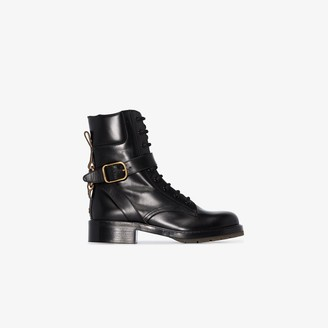 Chloé black Diane leather ankle boots