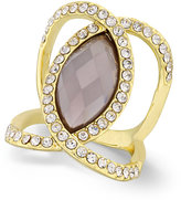 INC International Concepts Gold-Tone Gray Stone Pavé Ring, Only at Macy's