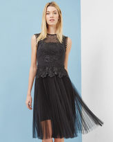 Ted Baker Lace pleated mesh dress
