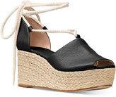 MICHAEL Michael Kors Hastings Lace-Up Wedge Sandals