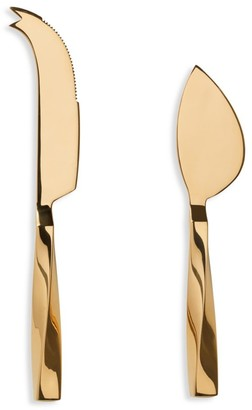 AERIN Set of Two Leon Stainless Steel Cheese Knives