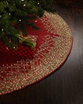 Kim Seybert Ombre Grid Christmas Tree Skirt